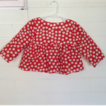 Red spot tunic top, toddler girl, size 1