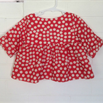 Red spot tunic top, toddler girl, size 2