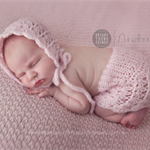Gorgeously textured Newborn Skirt and Bonnet Set / Photography Prop / Pale Pink