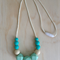 Silicone Necklace -Rose in Torquoise-