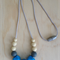 Silicone Necklace -Rose in Blue-