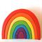 Large handmade wooden rainbow. (7 Piece)