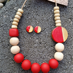 Neck Candy Necklace - Ruby Red