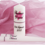 Personalised white wedding ceremony unity set sets candle candles gift or gifts