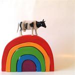 Medium handmade wooden rainbow. (5 Piece)