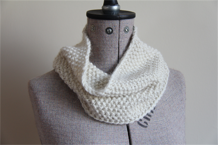 "Super Soft Hand Knitted Cowl / Infinity Scarf: ""I Love Ice Cream"" Cowl"