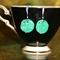 Vintage Japan cherry brand Peking glass floral crystal set artisan earrings