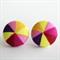Buy 3 Get 1 Free! Yellow Pinwheel Fabric Button Stud Earrings