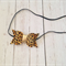 Leopard Print Mini Bow Headband - Gold Metallic Center - Baby/Girls Accessory