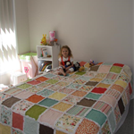 CUSTOM LISTING - RAGGED QUILT - DOUBLE BED