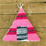 Heat Pack. Lavender and rice Upcycled TeePee