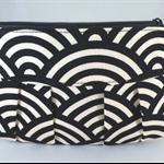 Japanese wave pleated purse