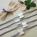 coastal clay tag napkin ties (set of 4)