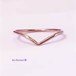 Chevron ring, 14k rose gold filled, twisted chevron ring