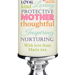 Small Personalised white mother's mothers day candle candles gift or gifts