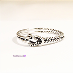 Double love knot ring, sterling silver, promise ring