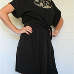 Ladies Black and Silver relaxed fit dress, size 12