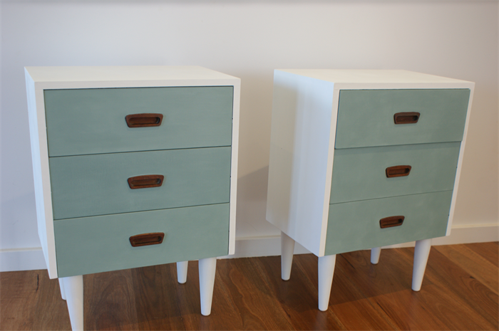 Upcycled Retro Bedside Tables
