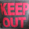 Cushion Cover. Keep out. Teens or Tweens decor. Black and Red