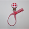 WOODEN PINK & WHITE DUMMY / PACIFIER  CLIP