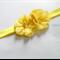 Yellow bella flowers stretch headband