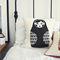 Babushka Doll Throw Pillow in Charcoal – children's cushion, nursery decor