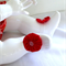 Red Yoyo Barefoot Sandals - Size 3-6 months (B3)