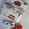 Car Wallet with Road, storage roll for six toy cars - stop and go