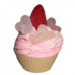 Champagne & Strawberries Cupcake Soap