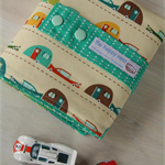 Car Wallet with Road, storage roll for six toy cars - caravans, custom made