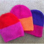 Colour block baby beanie