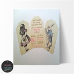 Vintage Alice In Wonderland Personalised Invitation, 10 Pack.