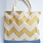 Gold Chevron Tote Bag