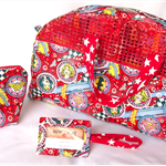 Custom made luggage set in your choice of fabric!!