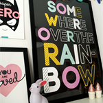 Somewhere Over The Rainbow Art Print Decor Baby Nursery Kid