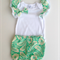 Gorgeous Peppermint Swirl Set - Shorties with ruffled sleeve onesie