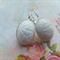 White Scarab Glass Earrings