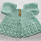 Crocheted Bella Rebekah Cardigan. Size 0-3months.