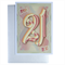 21st Happy Birthday card, personalized message golden boy girl man woman