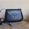 Handmade Black Floral Tooled Genuine Leather Bag/Handbag