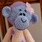 Madison the hand crocheted Monkey - girl, washable, OOAK by CuddleCorner