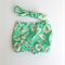 Gorgeous Peppermint Swirl Shorties Nappy Cover with matching headband