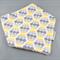 Bandana Dribble Bib - Grey and Yellow Bubbles