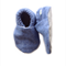 Denim Coloured Herringbone Baby Shoes