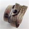 Mock Croc metallic leather wrist wrap