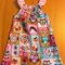 Woodland Animals Peasant Dress with flutter sleeve Size 2-3