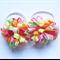 Piggy tail hair ties - Rainbow
