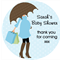DIY Personalised baby shower umbrella favours stickers favour gifts gift present