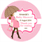 Personalised modern mum mom baby shower pink favours stickers favour gifts gift