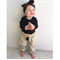 Gold Leopard Harems and Topknot - baby, girl, white, Luxe, birthday, black